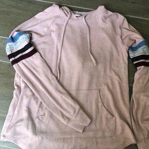 Thin Pink Hooded Sweatshirt